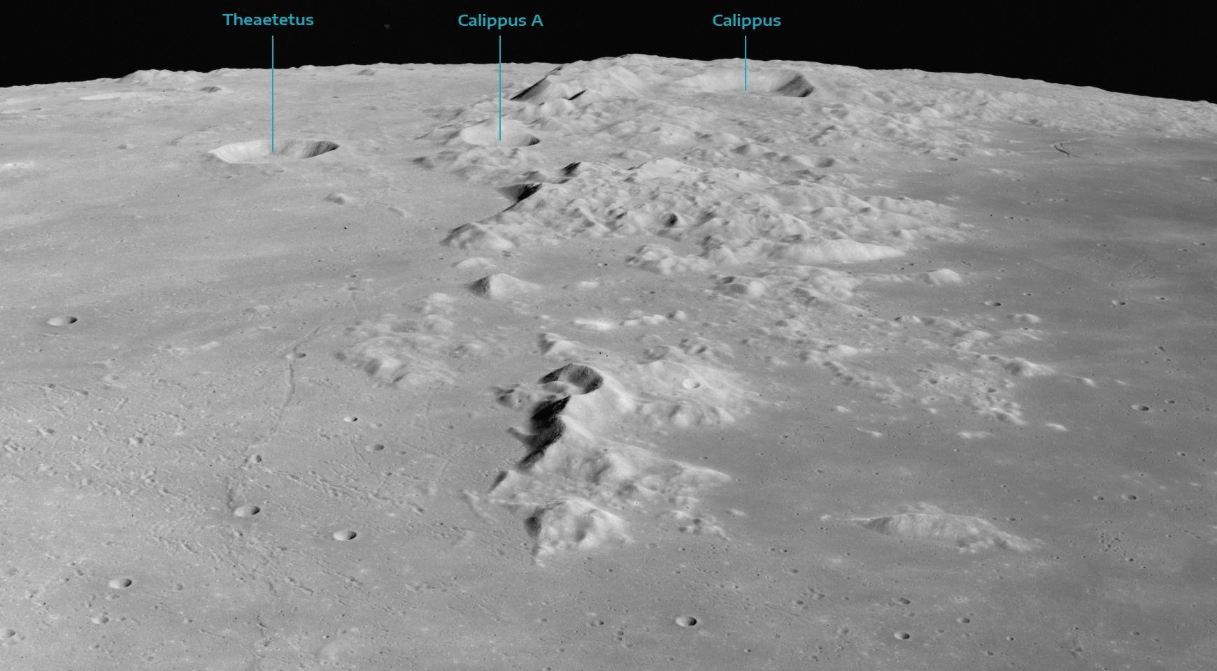 Góry Kaukaz - widok z pokładu Apollo 15
