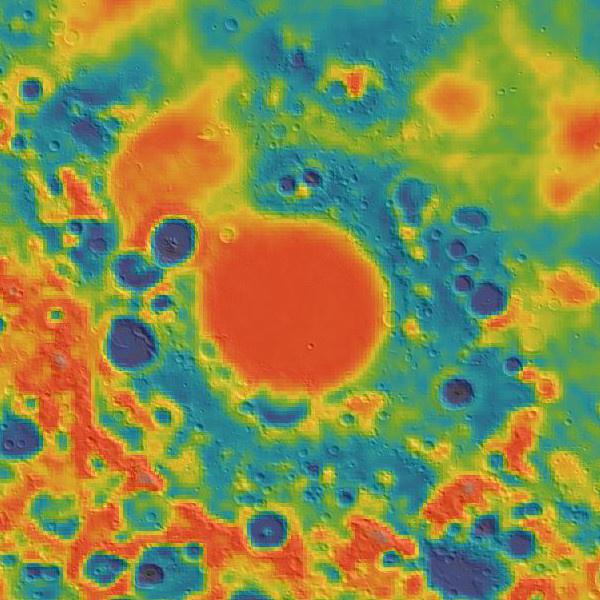 Grawitacja w rejonie Mare Nectaris - GRAIL