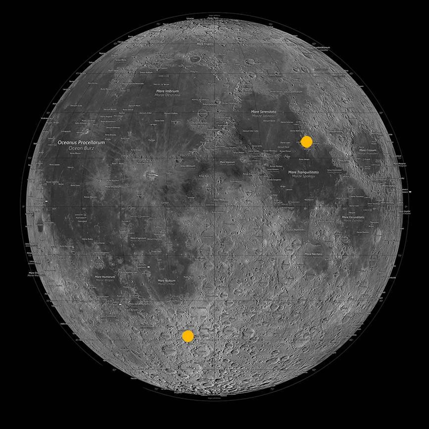 TKrater Tycho i miejsce pobrania próbek przez załogę Apollo 17