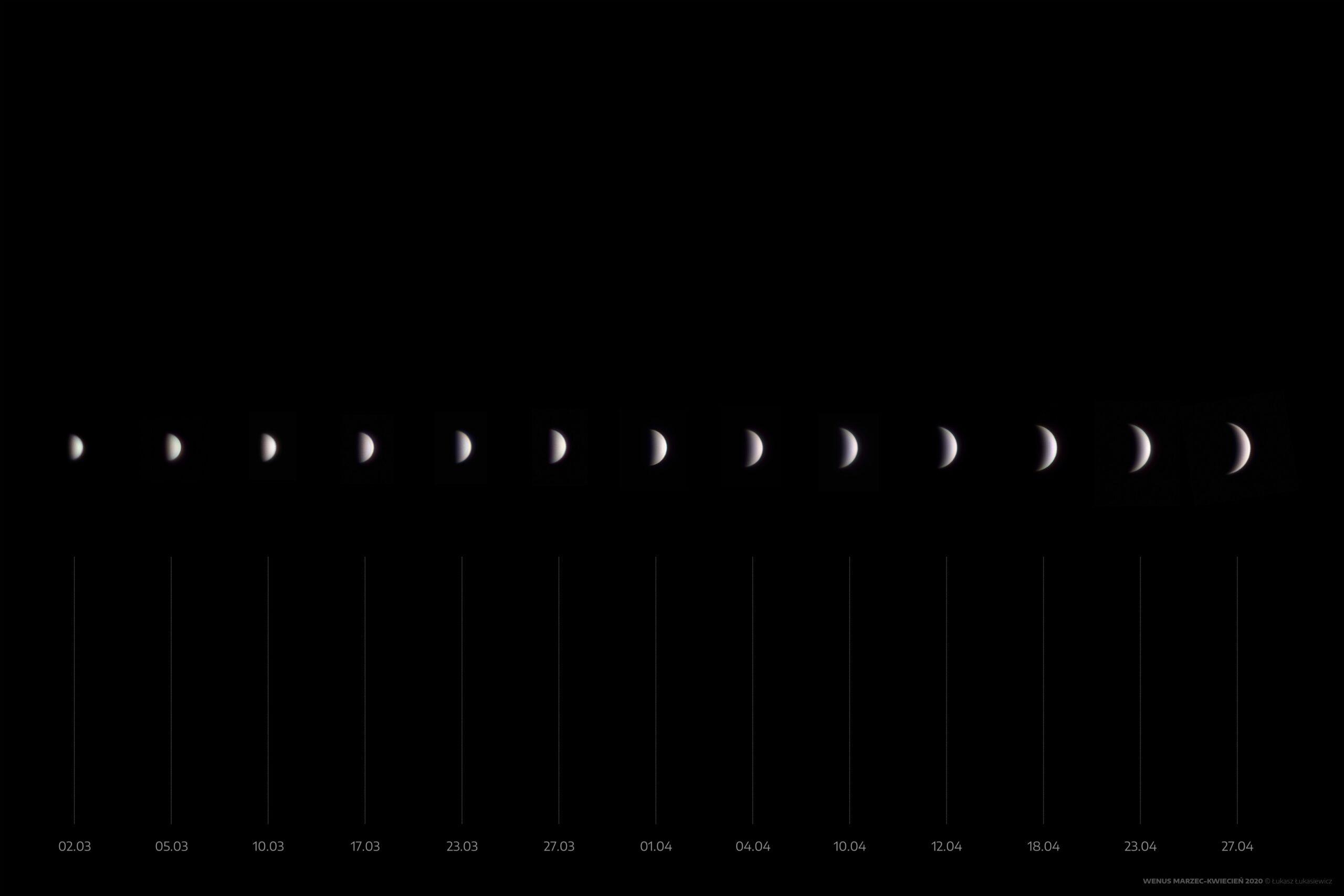 Wenus - marzec-kwiecień 2020